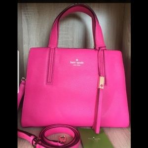 Kate Spade Dominique Grey Street leather handbag
